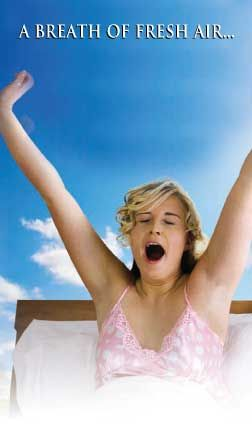 Girl yawning in bed | A Breath of Fresh Air